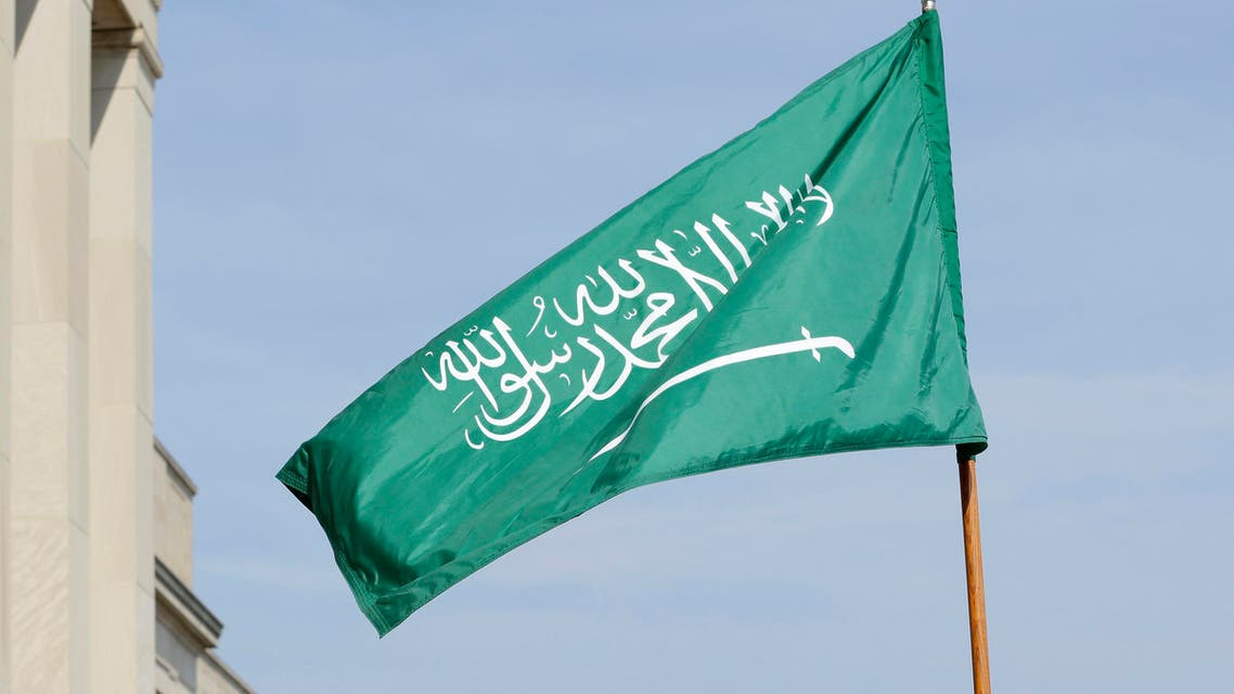 Saudi Arabia's flag is held by U.S. honor cordon soldiers before the arrival at the Pentagon of Saudi Arabia's Chief of the General Staff Lt. Hussein bin Abdullah Al-Qabil, at the Pentagon, Thursday, Sept. 27, 2012. (AP Photo/Jacquelyn Martin)