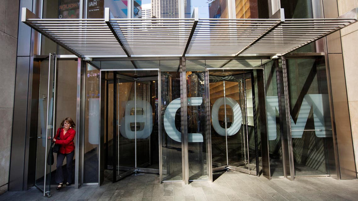 A woman exits the Viacom Inc. headquarters in New York April 30, 2013. REUTERS/
