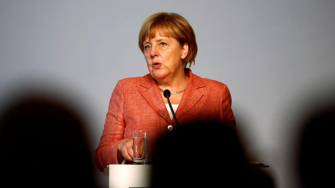 German Chancellor Angela Merkel delivers a speech at a summit of the Federal Association of the German Tourism Industry (BTW) at the Adlon Hotel in Berlin, Germany, September 26, 2016. REUTERS