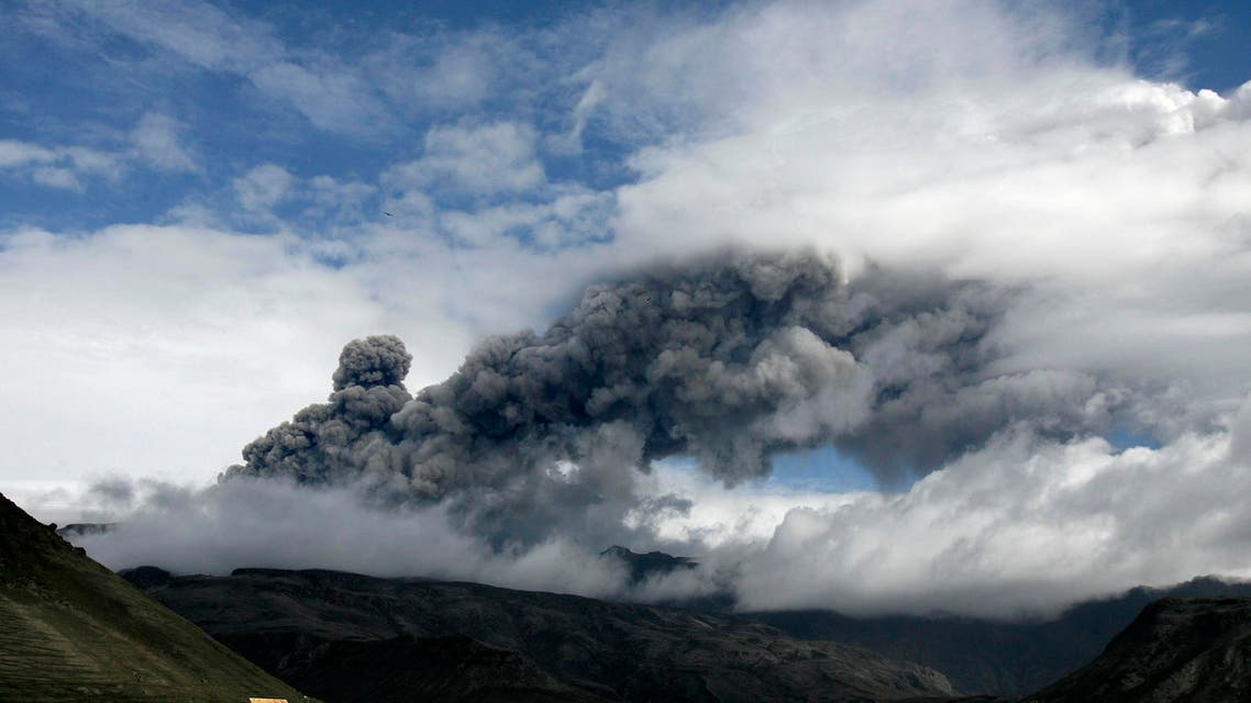 In April 2010,  ash from an eruption of its Eyjafjallajokull volcano grounded flights across Europe for days, stranding millions of people. (File photo: AP). AP file photo