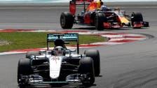 Ricciardo leads Red Bull one-two as Hamilton retires