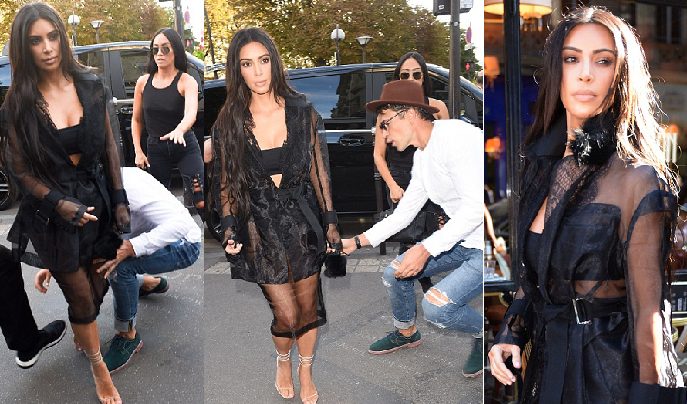 يوم الخميس الماضي هاجمها راغب بتقبيلها وسط الشارع بباريس أيضا، فصدها عنه حرسها الخاص