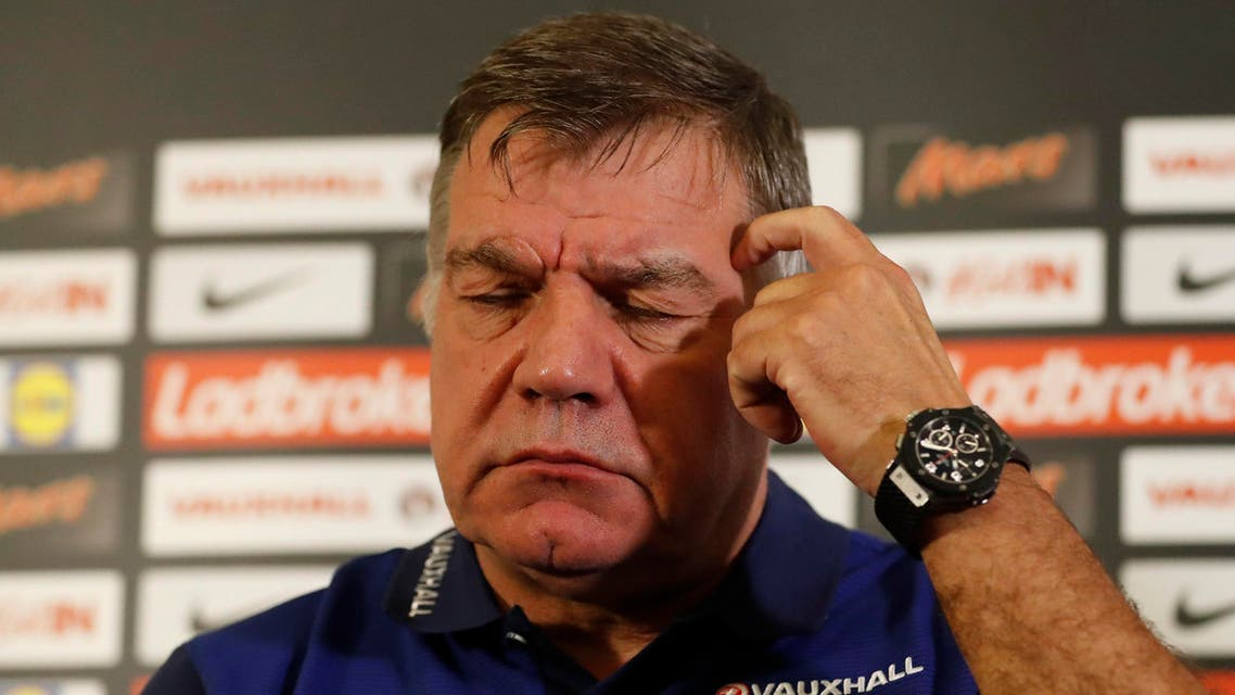 England manager Sam Allardyce during the press conference. (Reuters)