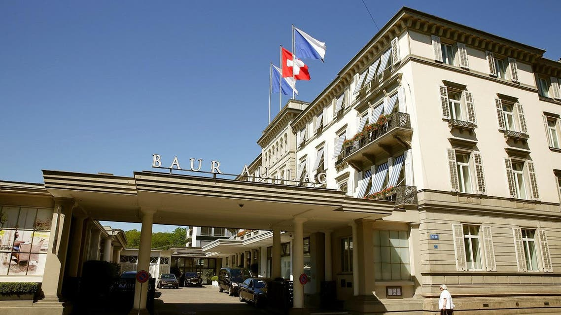 A general view shows the hotel Baur au Lac in Zurich, Switzerland. (Reuters)