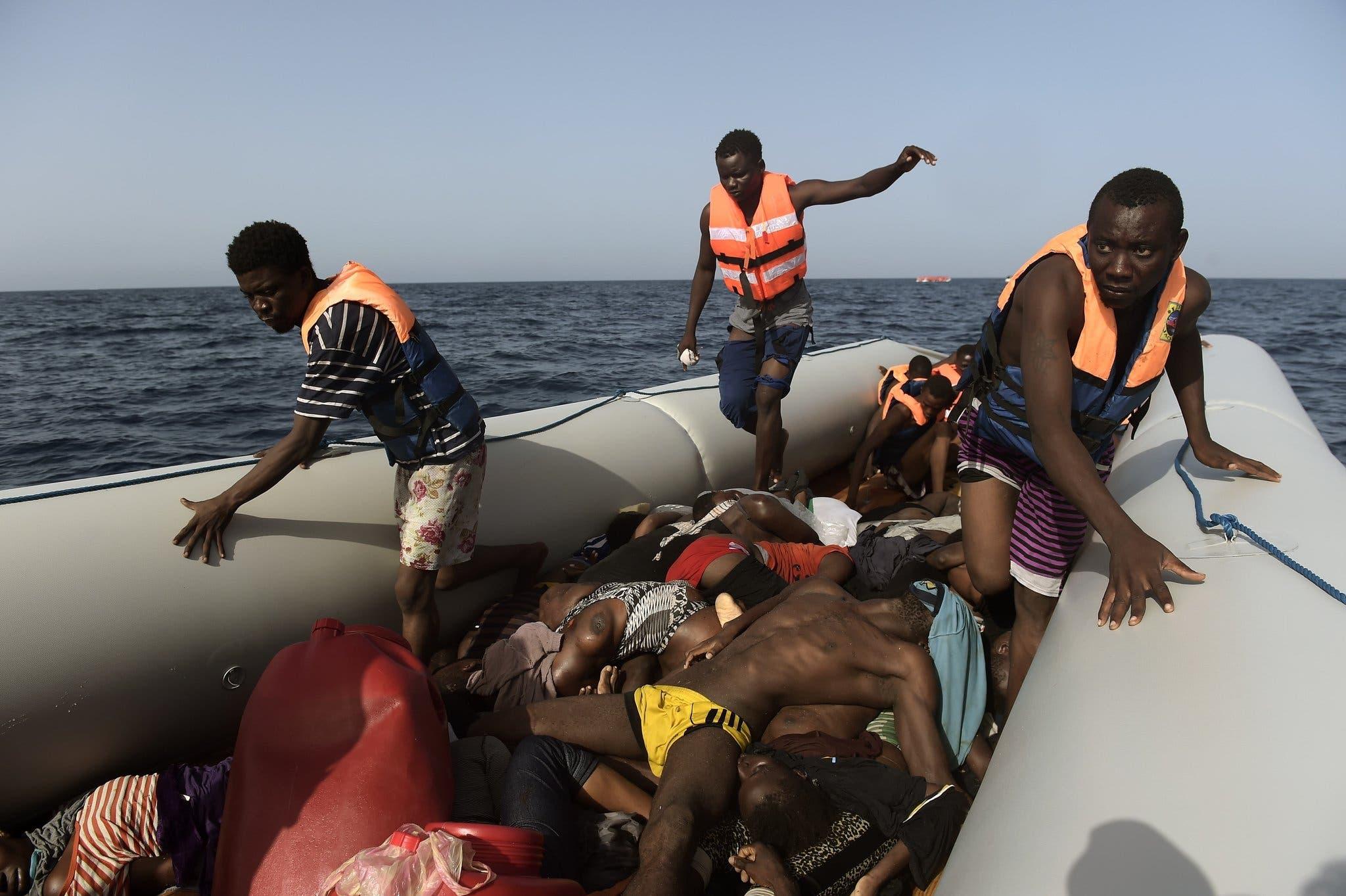 مأساة سابقة للمهاجرين في المتوسط