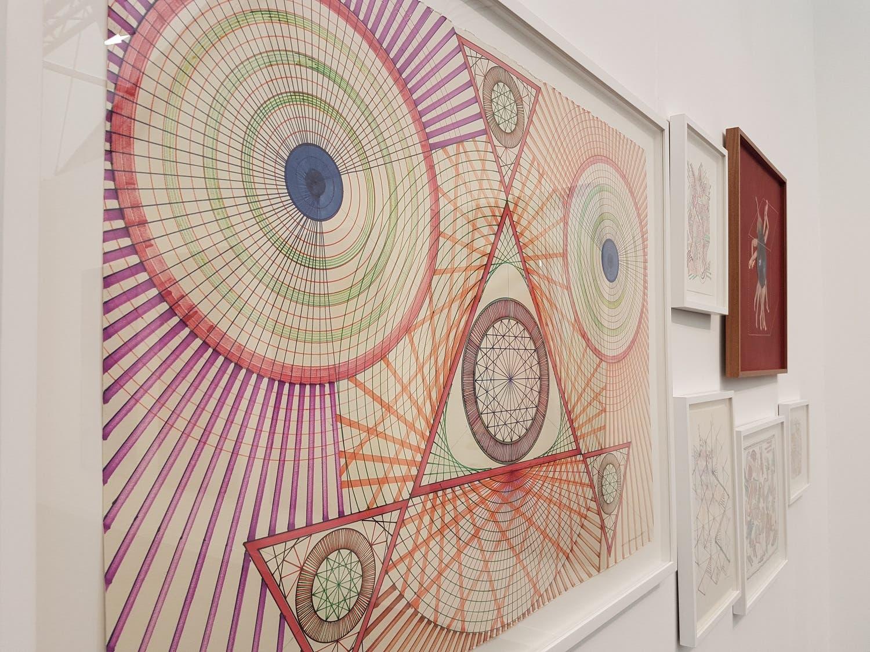 Monir Shahroudy Farmanfarmaian's work is on show at the The Third Line gallery booth. (Saffiya Ansari/ Al Arabiya English)
