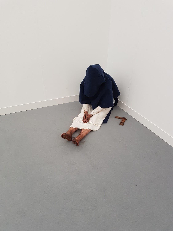 """Characters to be reactivated"" (1991-1995) by Pierre Joseph at the Air de Paris gallery booth. (Saffiya Ansari/ Al Arabiya English)"