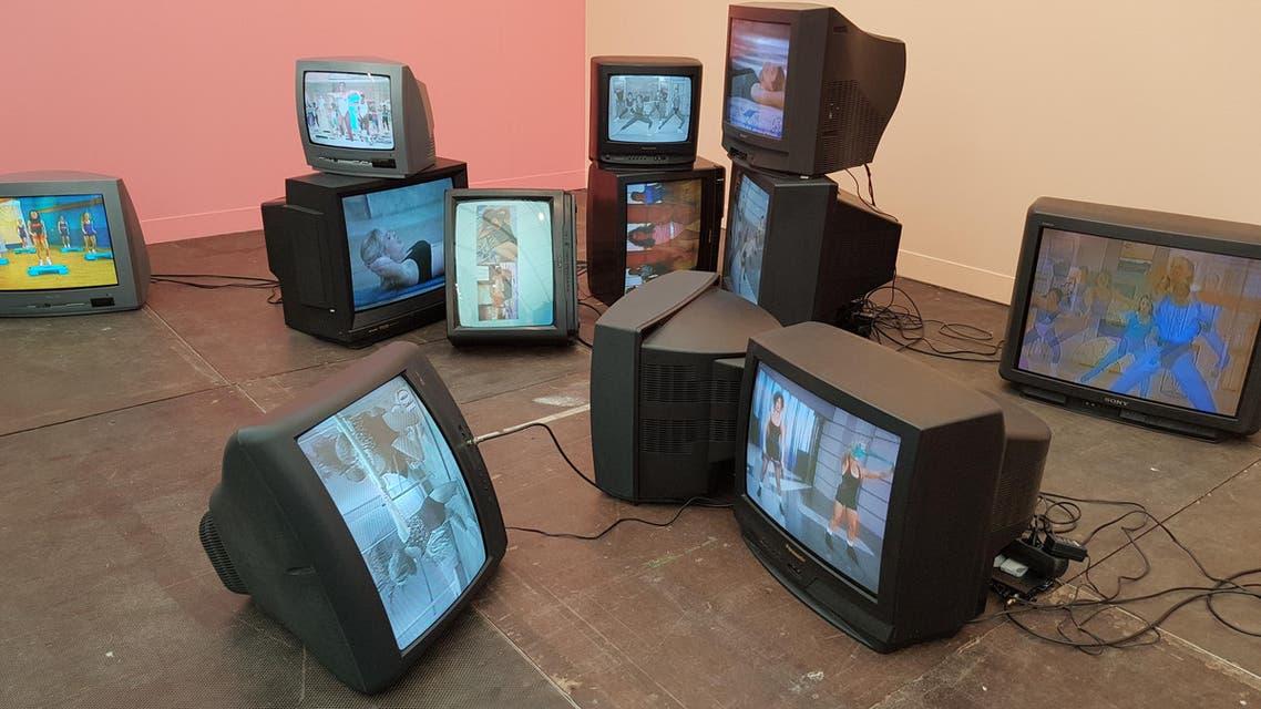 Untitled (O) (2008) by Sylvie Fleury at the Mehdi Chouakri gallery booth. (Saffiya Ansari/ Al Arabiya English)