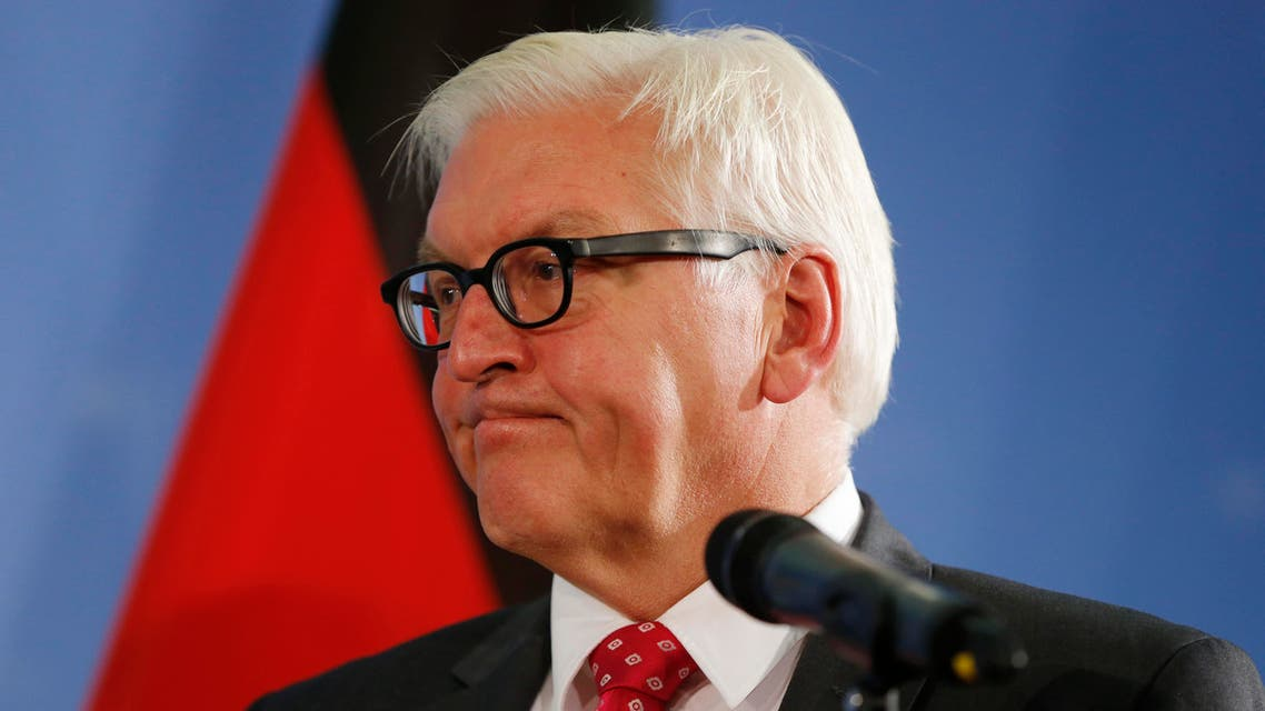 German Foreign Minister Frank-Walter Steinmeier attends a press conference after talks with Swedish Foreign Minister Margot Wallstrom (unseen) at the Foreign Ministry in Berlin on October 6, 2016. AFP