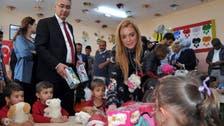 Lindsay Lohan visits Syrian refugees in southeast Turkey