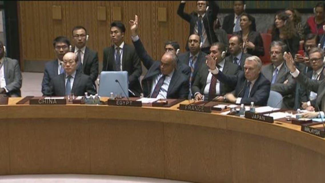 تصويت في جلسة مجلس الأمن حول سوريا
