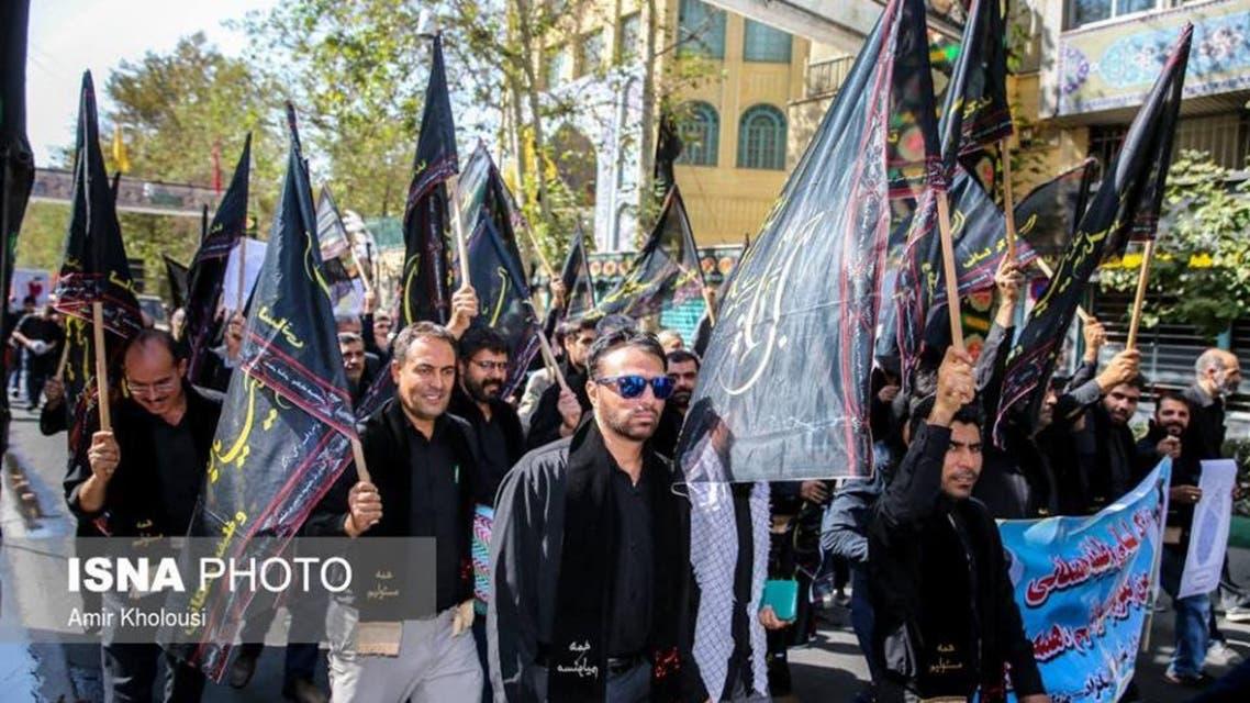 Iran militia demonstrate