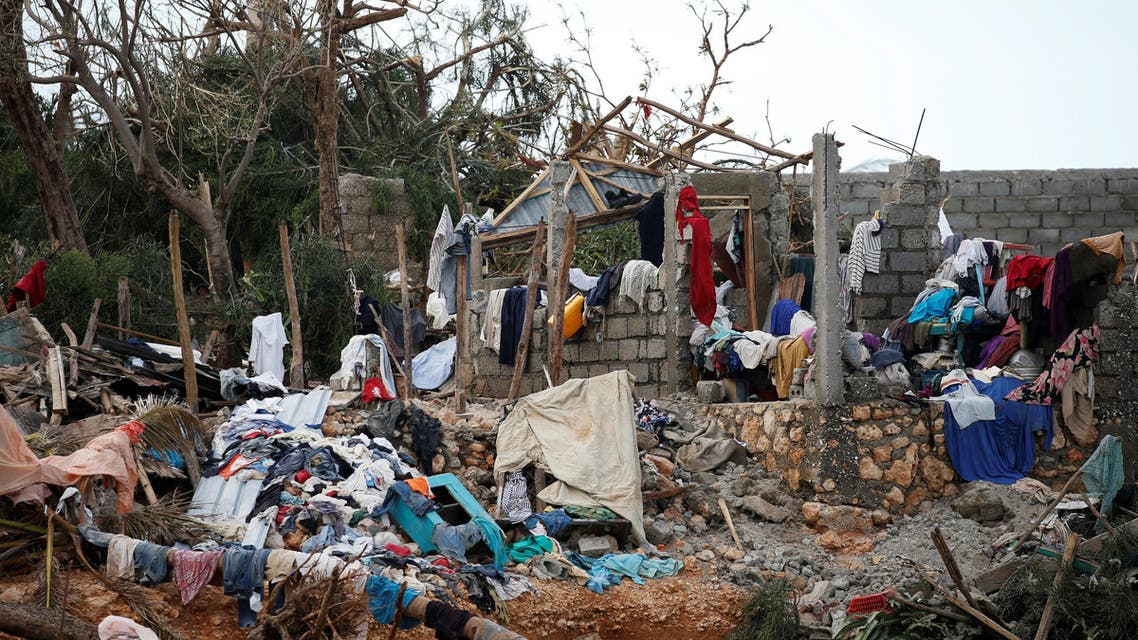 Clothes are seen in a destroyed house after Hurricane Matthew passes Jeremie, Haiti, October 7, 2016. (Reuters)