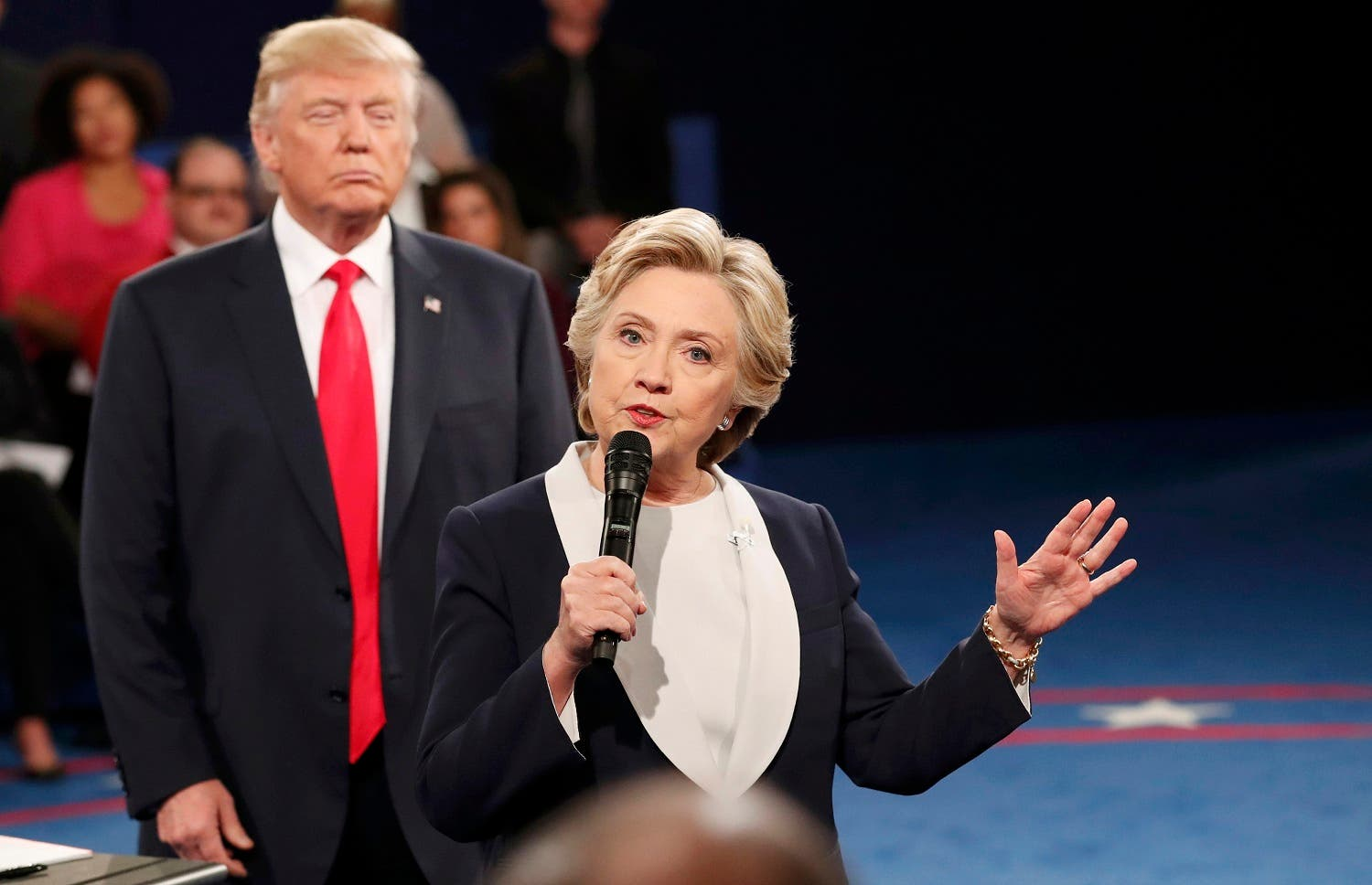 Clinton said during the debate that sending US ground troops to Syria would be a severe mistake. (Reuters)