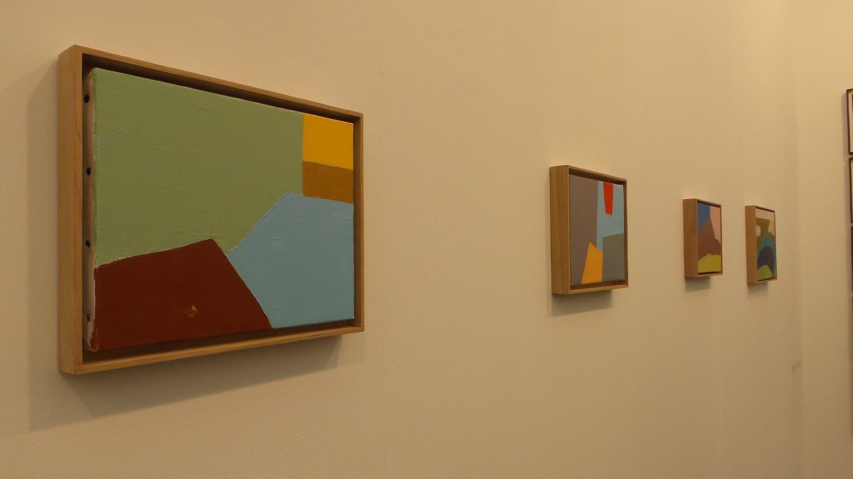 An untitled piece by Etel Adnan at the Sfeir-Semler gallery gallery booth. (Saffiya Ansari/ Al Arabiya English)]