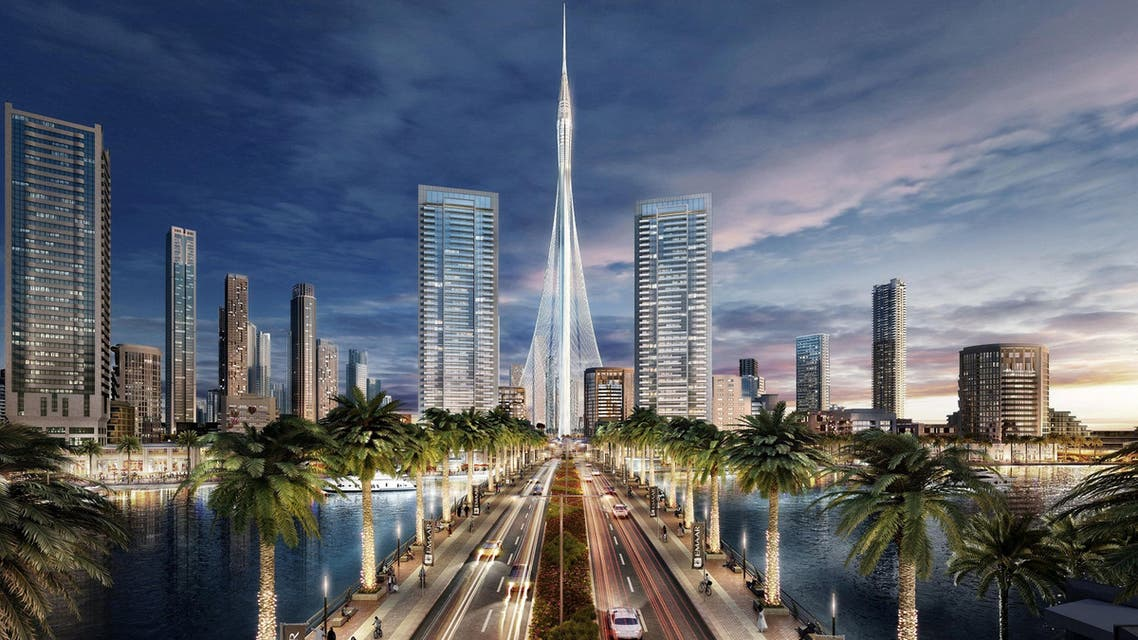 """An artist's impression of Dubai's """"The Tower"""" that would be the world's tallest tower. Emaar Properties/Handout via REUTERS"""