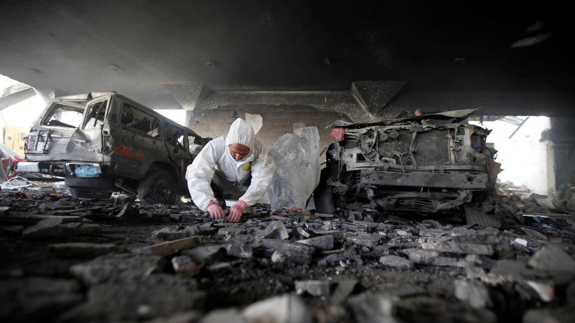 yemen funeral home bomb reuters