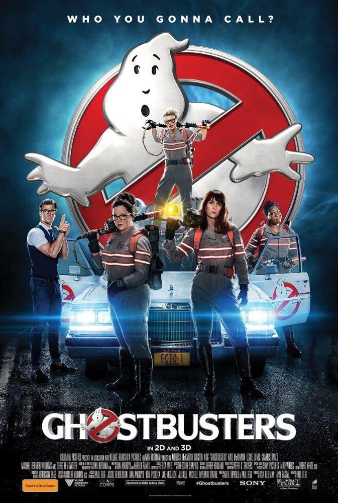 Leslie Jones, Melissa McCarthy, Kate McKinnon, Chris Hemsworth, and Kristen Wiig in Ghostbusters. (Photo courtesy: Ghostbusters)