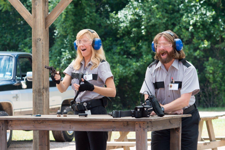 Zach Galifianakis and Kristen Wiig in Masterminds. (Photo courtesy: Masterminds)