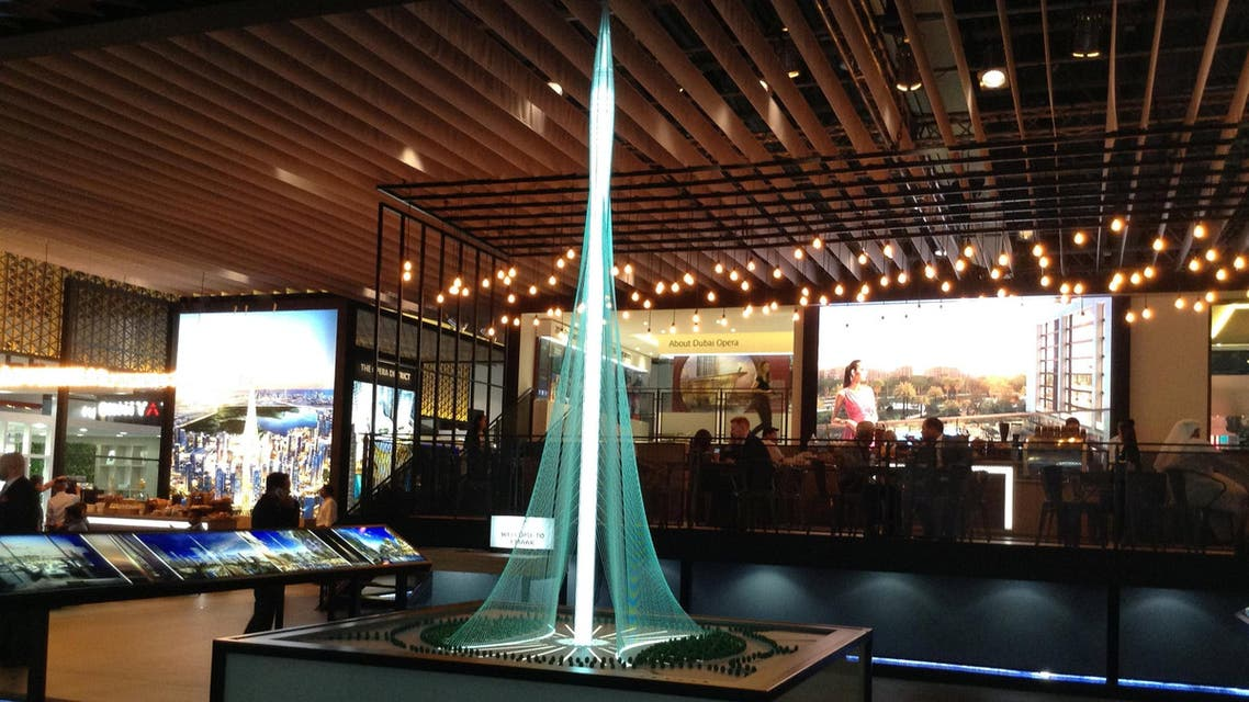 Model of The Tower is on display at the Cityscape Global real estate event in Dubai, UAE September 6, 2016. (Reuters)