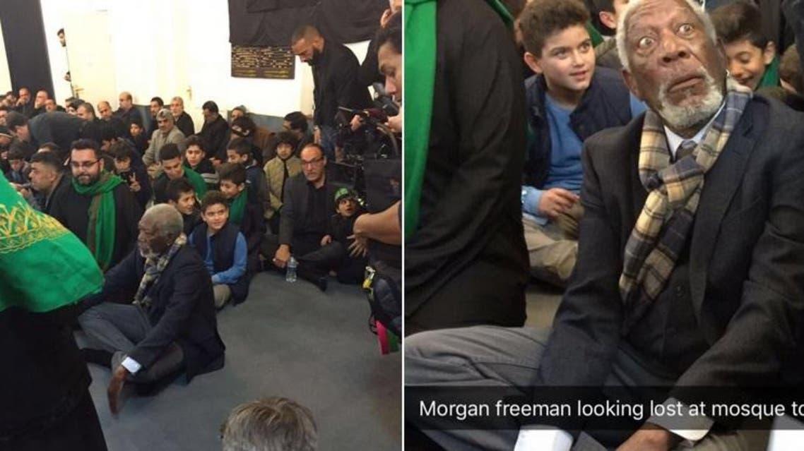 morgan freeman ashura shiite ceremony london Twitter
