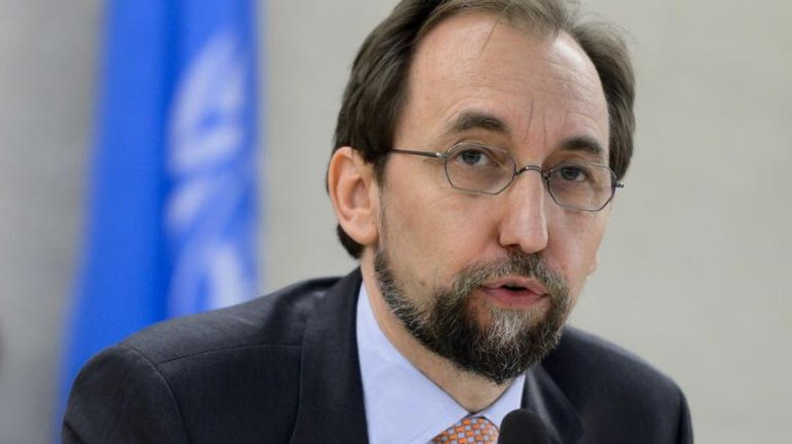 United Nations High Commissioner for Human Rights Zeid Ra'ad Al Hussein delivers a speech at the opening of a new Council's session on June 13, 2016 in Geneva. AFP