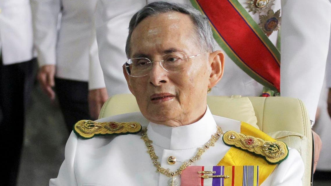 In this Dec. 5, 2011, file photo, Thailand's King Bhumibol Adulyadej is pushed on a wheelchair while leaving Siriraj hospital for the Grand Palace for a ceremony celebrating his birthday in Bangkok (File Photo: AP/Apichart Weerawong)