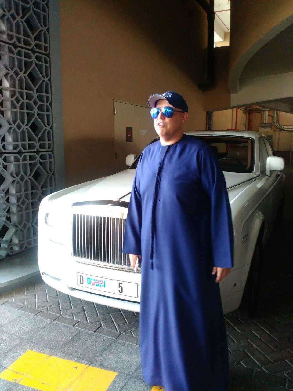 Raj Sahni with his white RollsDubai-based Indian businessman Raj Sahni of RSG International with his white Rolls Royce bearing the D5 unique license plate. (Supplied photo)