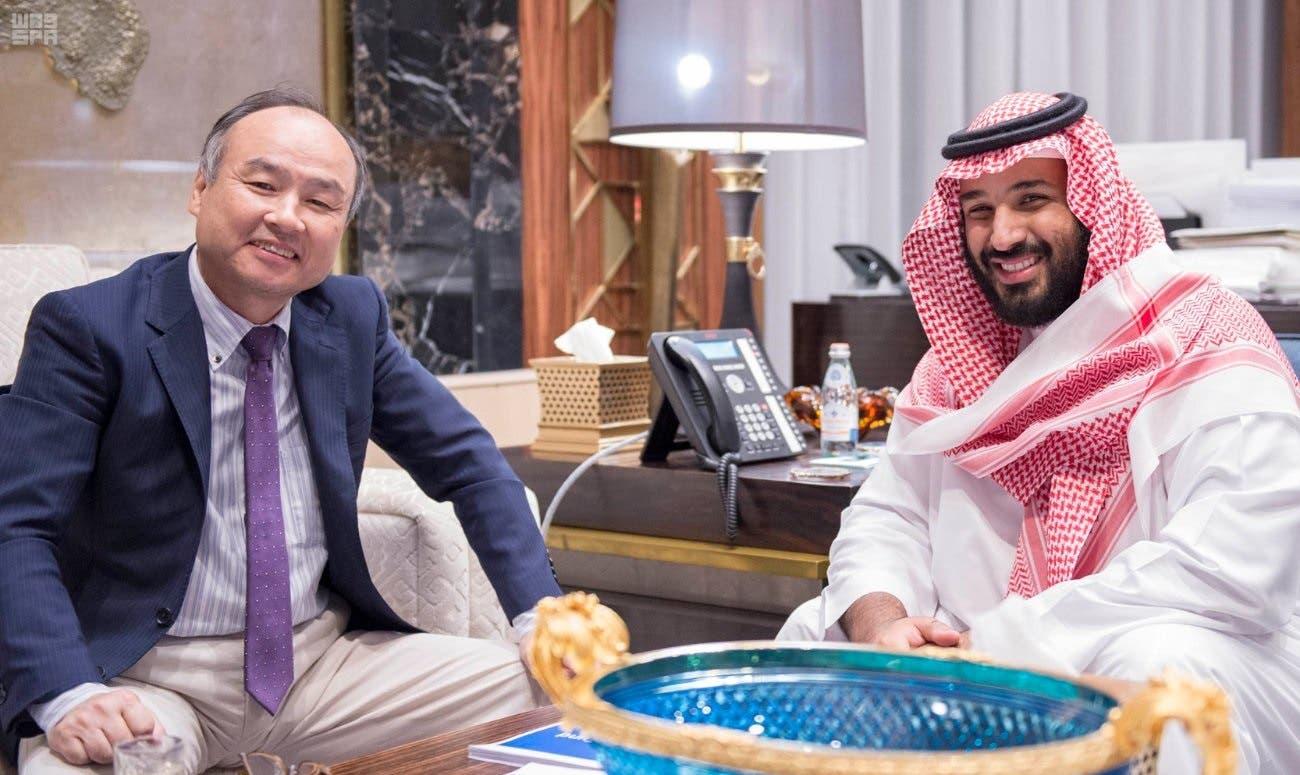 Masayoshi Son, Chairman & CEO of SoftBank and Saudi Arabian Deputy Crown Prince Mohammed bin Salman (Photo: Saudi Press Agency)