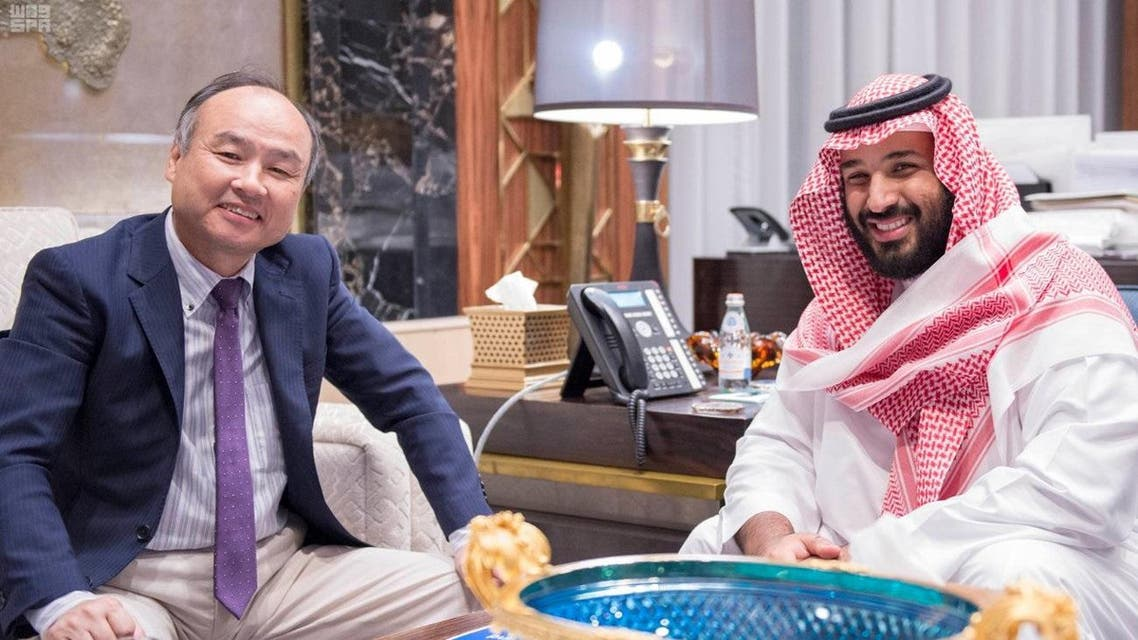 Masayoshi Son, Chairman & CEO of SoftBank and Saudi Arabian Deputy Crown Prince Mohammed bin Salman (Photo: Saudi Press Agency)