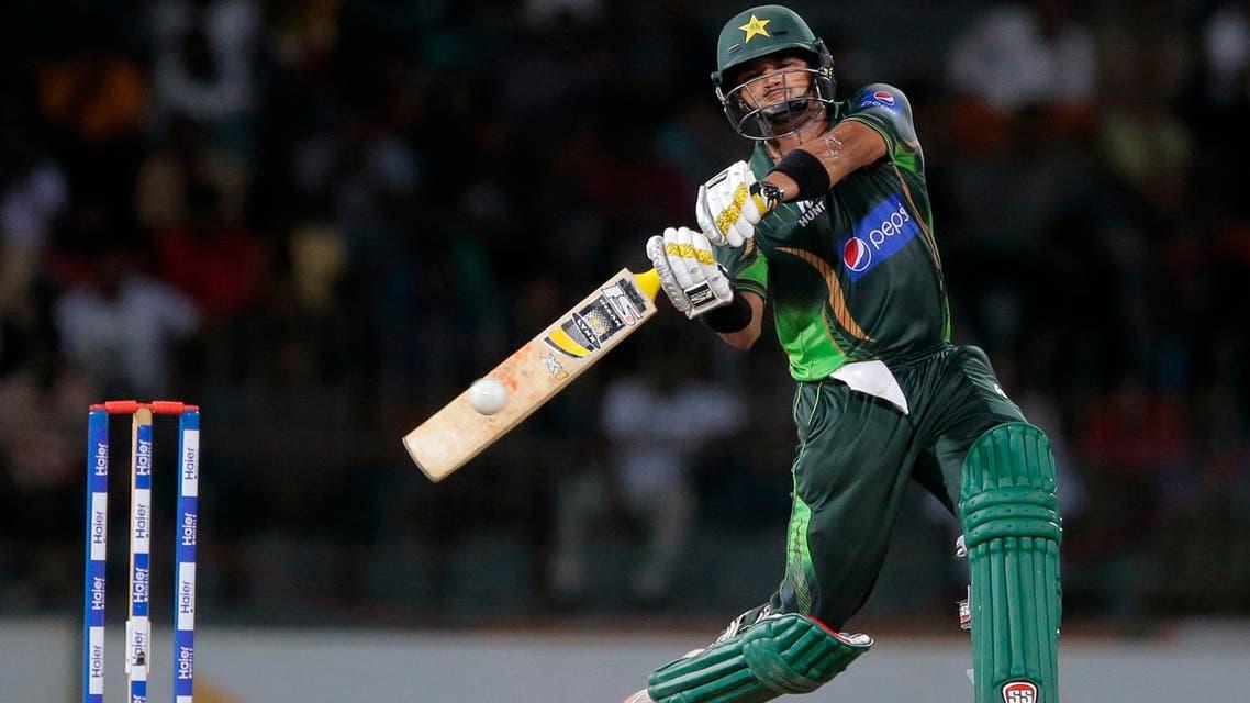 Pakistan's Azhar Ali plays a shot during their fourth one day international cricket match against Sri Lanka in Colombo, Sri Lanka, Wednesday, July 22, 2015. (AP