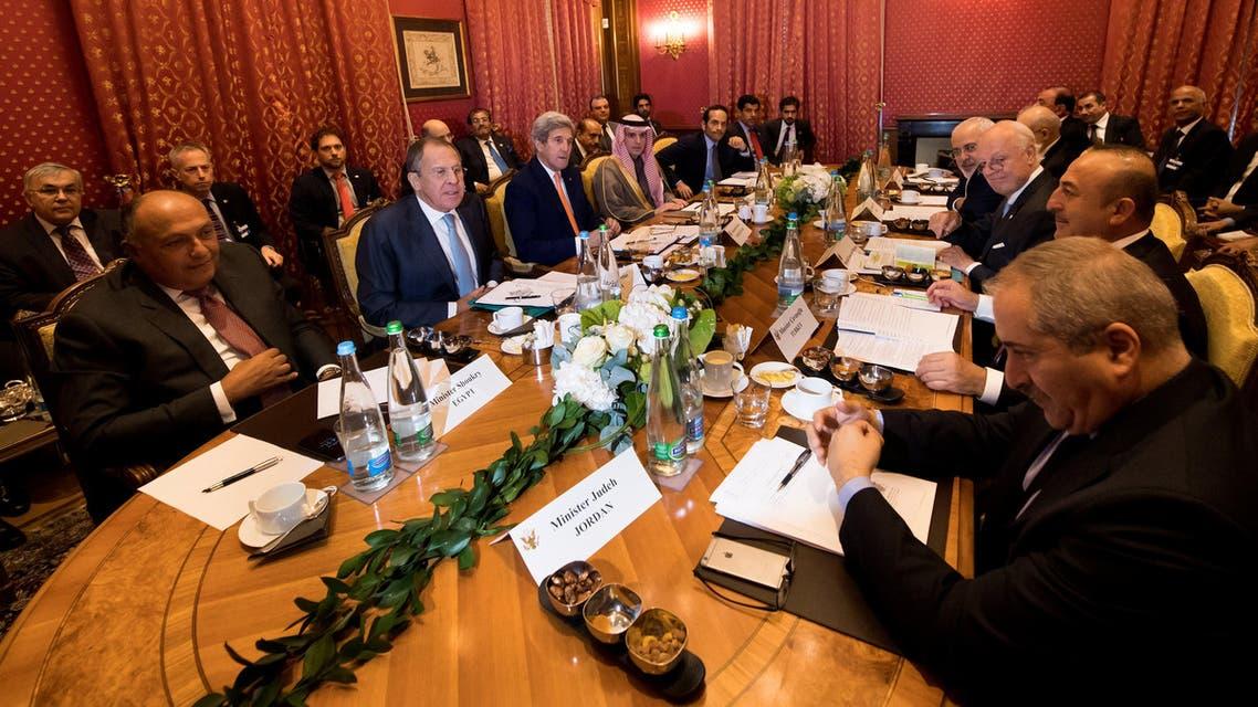 جانب من اجتماع لوزان بشأن سوريا 15 - سبتمبر - 2016 / رويترز