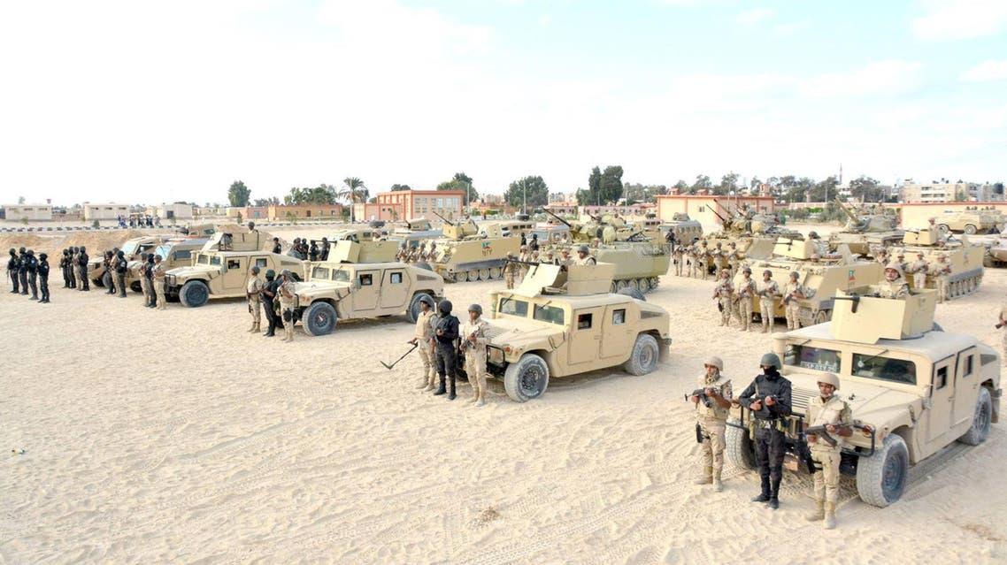الجيش المصري تعزيزات عسكرية في سيناء