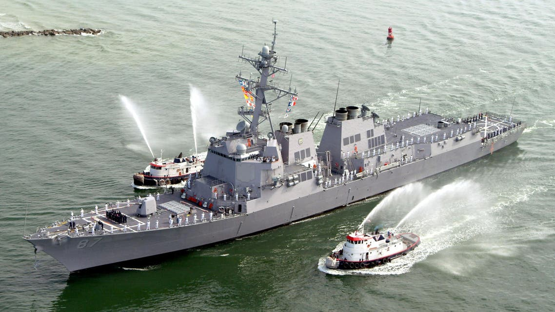 The USS Mason (DDG 87), a guided missile destroyer, arrives at Port Canaveral, Florida, April 4, 2003. REUTERS