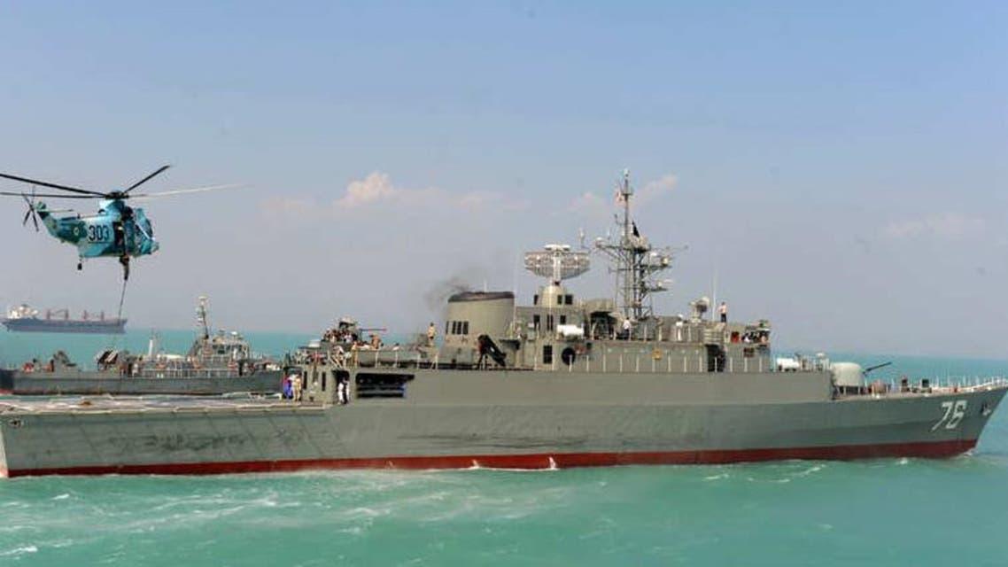 سفينة حربية إيرانية في المياه الدولية - أرشيفية