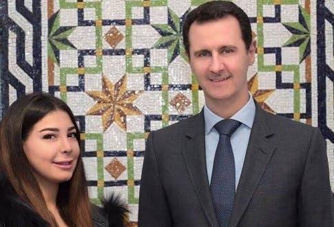 بشرى مع بشار الاسد- من صفحتها الفيسبوكية