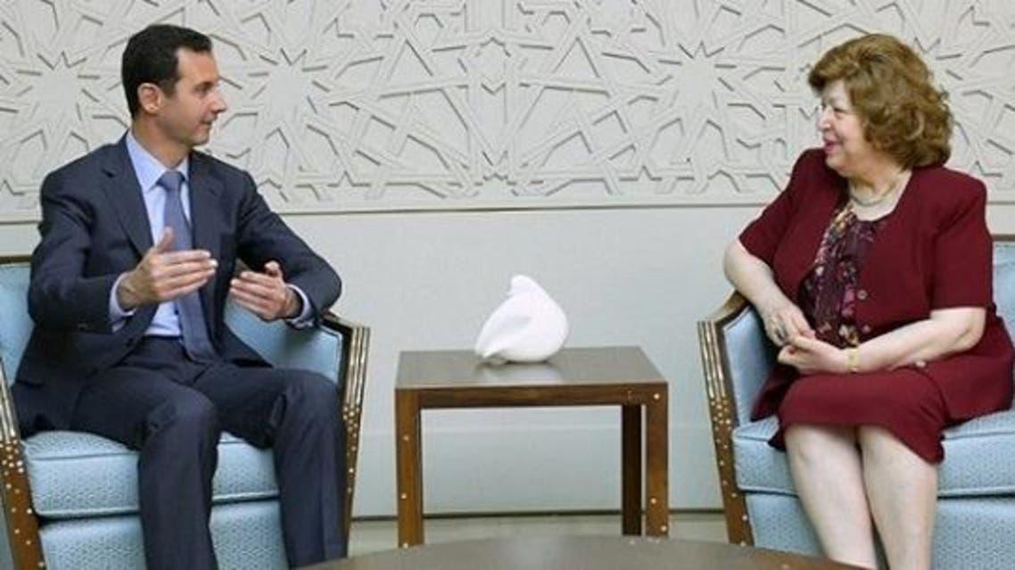 الأسد ونائبته نجاح العطار