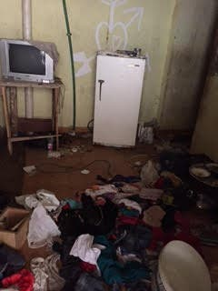 Photo of the main suspect's room after police inspections. (Supplied)