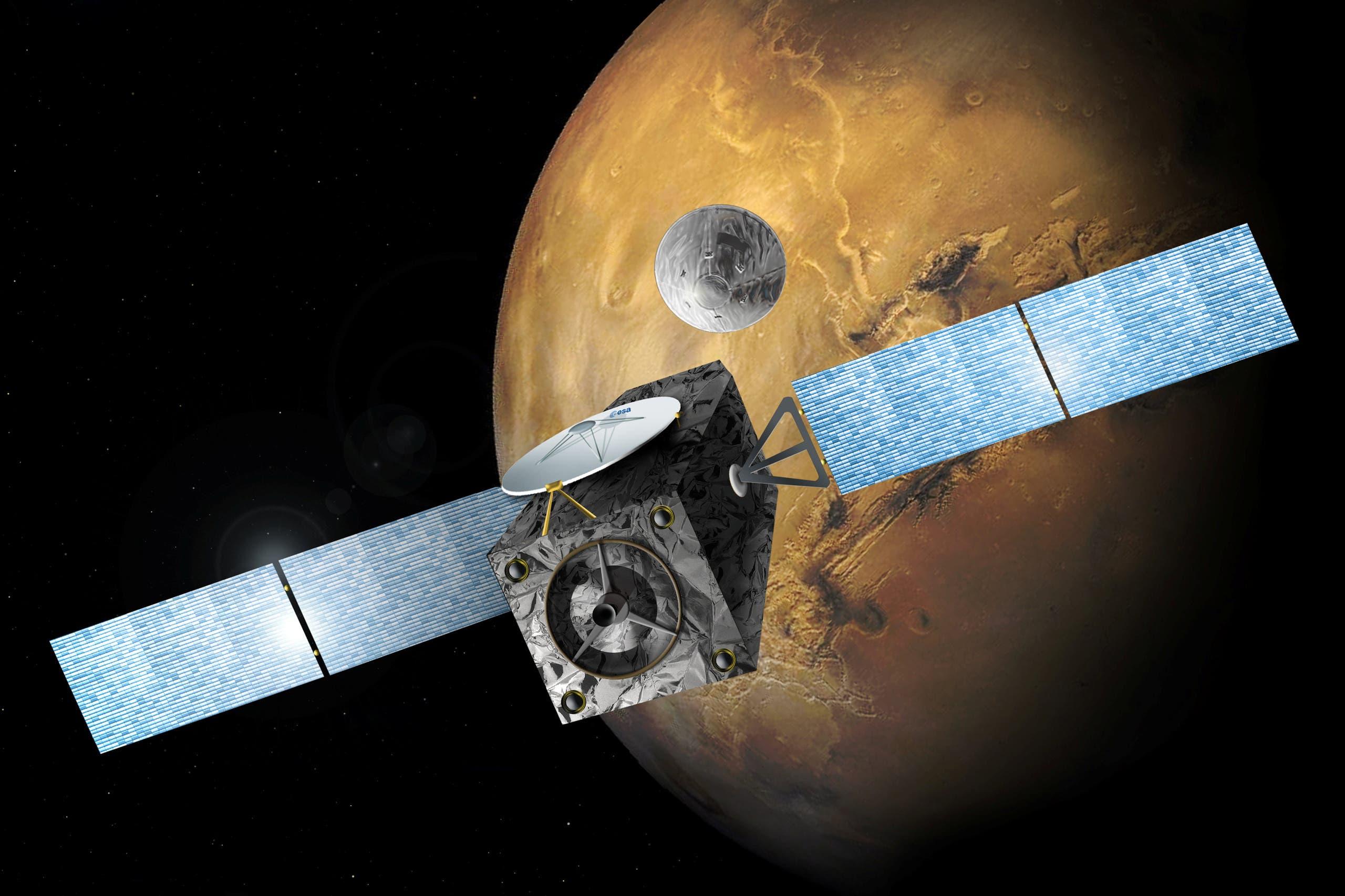 هبوط مركبة فضاء على سطح المريخ