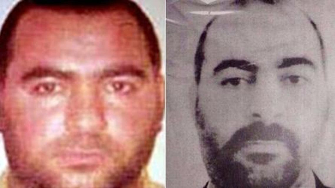 A combo of two handout pictures released by the US Department of State's Bureau of Diplomatic Security (L) and by Iraqi Ministry of Interior shows photographs of Abu Bakr al-Baghdadi. (AFP)