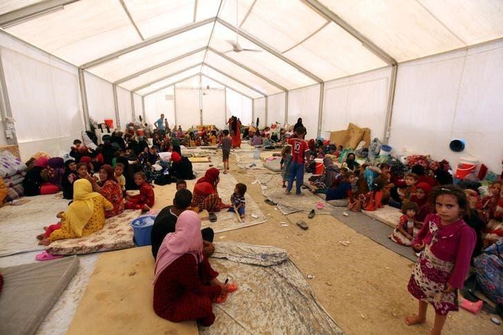 اردوگاه جنگزدگان در منطقه مخمور در نزدیکی موصل