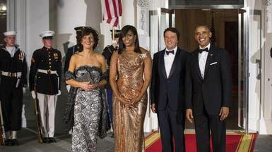 ماذا ارتدت ميشال أوباما في آخر عشاء رسمي لها؟