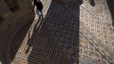 بالصور.. فلسطين تكشف عن أكبر لوحة فسيفساء بالعالم