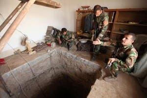 کشف یکی از تونلهای زیرزمینی داعش توسط نیروهای پیشمرگه