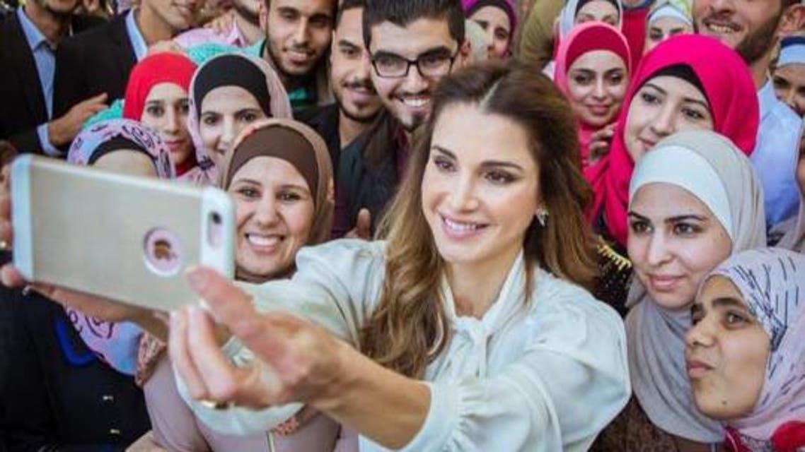 سيلفي الملكة رانيا