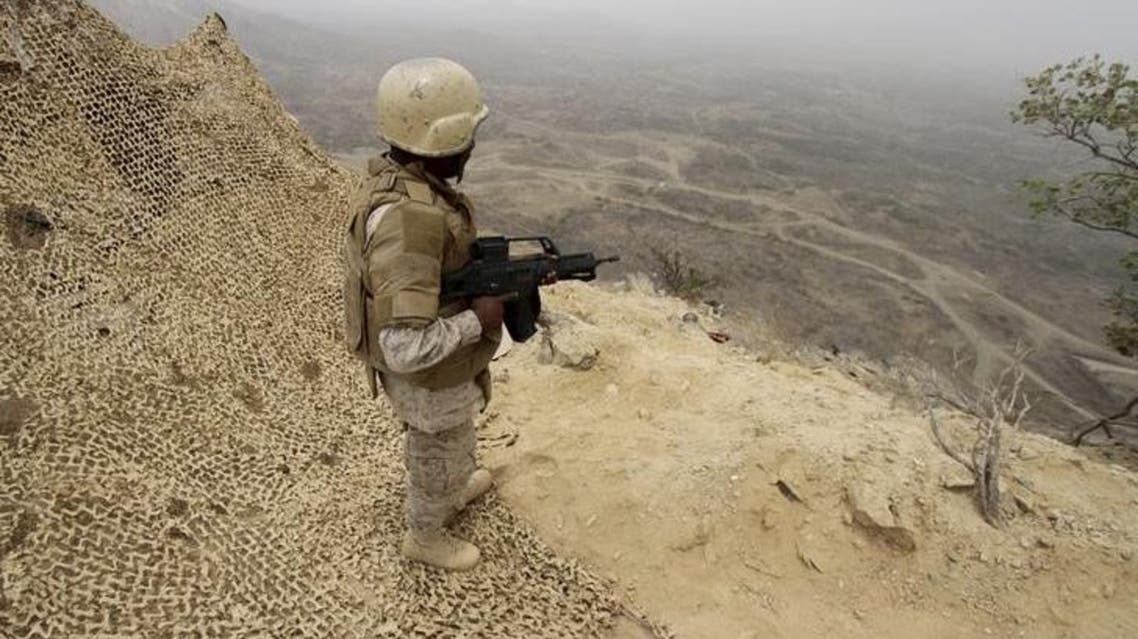 A Saudi soldier at the border with Yemen. (Reuters)