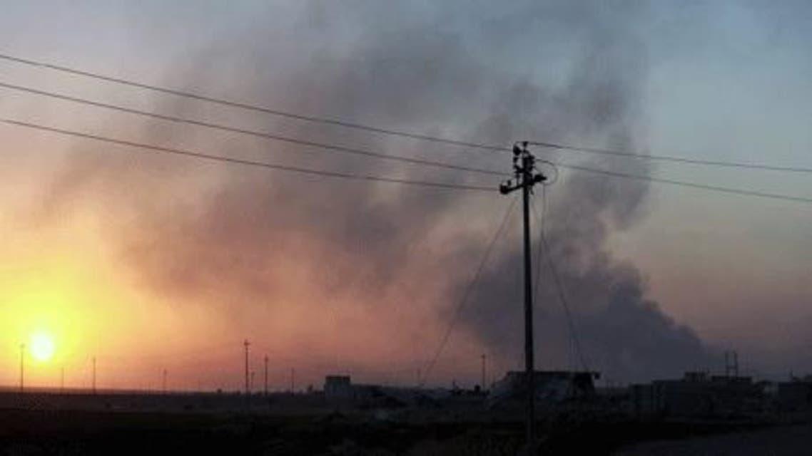 """صحنه انفجار انتحاری- عکس از شبکه کردی """"رووداو"""""""