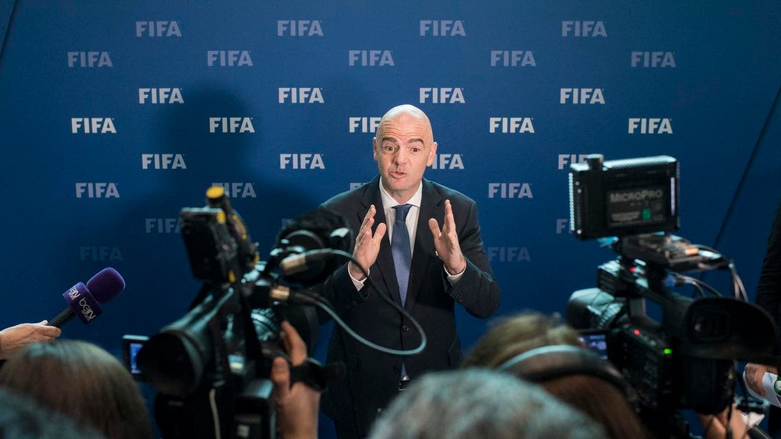 FIFA President Gianni Infantino attends a press conference after the FIFA Council meeting at the Home of FIFA in Zurich, Switzerland, Friday, Oct. 14, 2016. (Photo: Ennio Leanza/Keystone via AP)