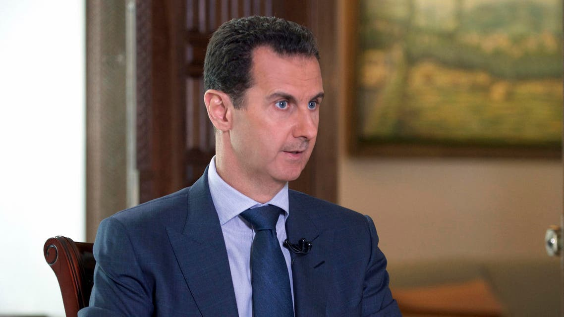 In this Wednesday, Sept. 21, 2016 photo released by the Syrian Presidency, Syrian President Bashar Assad speaks to The Associated Press at the presidential palace in Damascus, Syria. AP