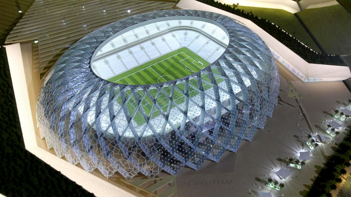 Qatar presents a model of its Al-Wakrah stadium as it bids to host the FIFA 2022 World Cup during the FIFA Inspection Tour for the country's bid, in Doha September 16, 2010 reuters